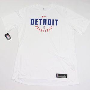 New Nike Detroit Pistons Team Issued Shirt White